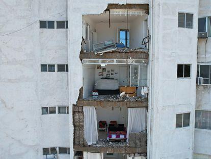 Hotel afetado por terremoto desta terça em Acapulco, no México.