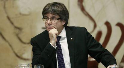 O presidente da Generalitat, Carles Puigdemont.
