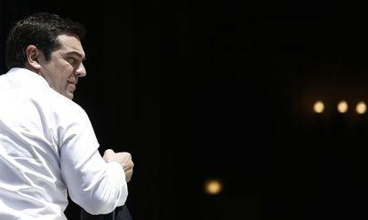 Alexis Tsipras na quinta-feira, em Atenas, depois de retornar de Bruxelas.