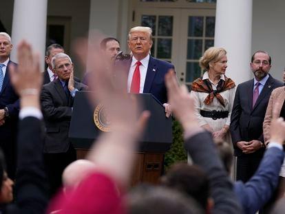 Trump durante entrevista coletiva nesta sexta-feira.