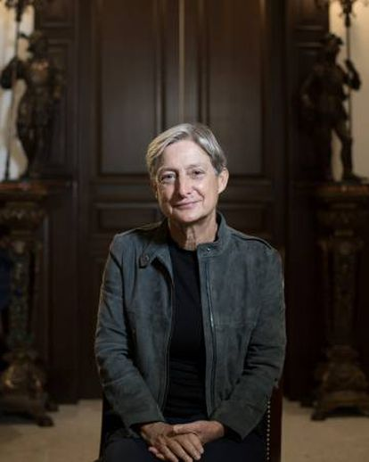 A filósofa norte-americana Judith Butler em Guadalajara (México).
