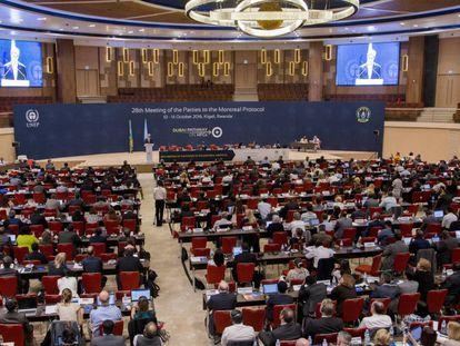 Discurso do secretário de Estado dos EUA, John Kerry, durante o encontro em Ruanda.