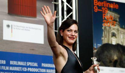 A atriz Daniela Vega na Berlinale do ano passado.
