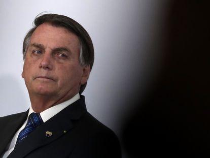 Bolsonaro durante em evento em Brasília, na última quarta-feira.