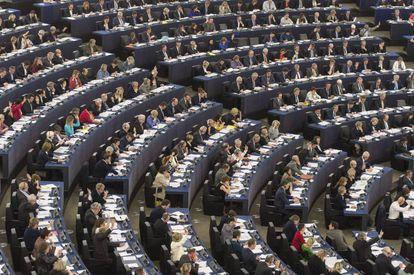 Vista geral durante uma sessão plenária do Parlamento Europeu em Estrasburgo.