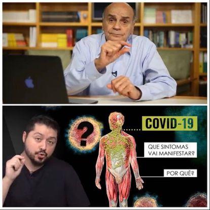 O médico Drauzio Varella e o microbiologista Iamarino, 'youtubers' brasileiros.
