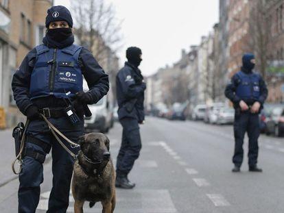 Operação policial em Bruxelas.