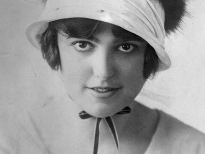 Retrato de Virginia Rappe, a atriz que morreu em uma festa em 1921 e de cuja morte o astro Fatty Arbuckle foi acusado sem provas.