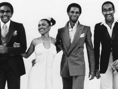 Os integrantes da banda Chic, em 1977.
