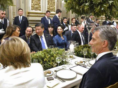 Almoço dos líderes do G20 durante a cúpula de Buenos Aires.