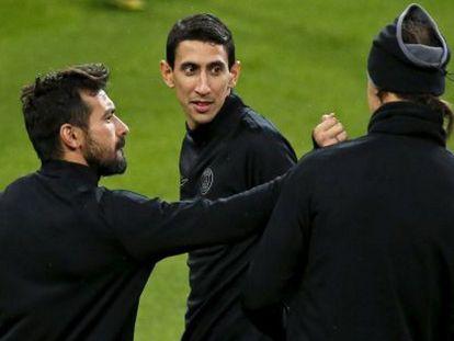 Lavezzi, Di María e Ibrahimovic no Bernabéu. / Foto: REUTERS/ Vídeo: ATLAS