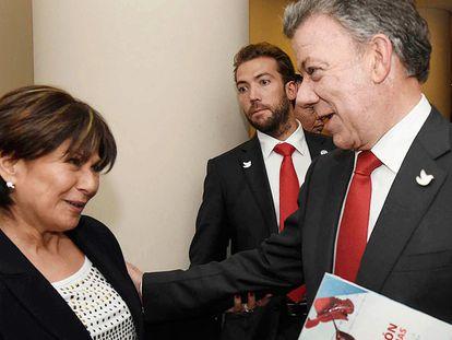 Juan Manuel Santos durante o foro 'Os benefícios da paz em Colômbia'
