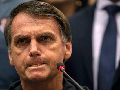 O candidato à presidência do Brasil Jair Bolsonaro,
