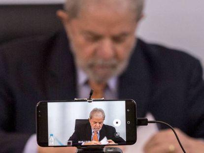 O ex-presidente Lula, durante entrevista em São Paulo.