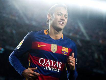 Neymar, no último clássico.