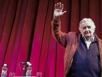 O ex-presidente uruguaio José Mujica, em 10 de agosto de 2018 em Buenos Aires.