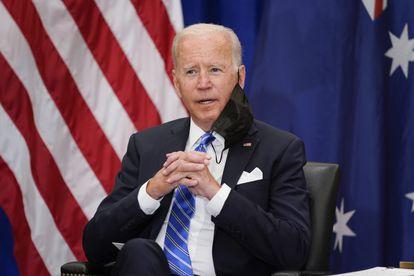 O presidente dos Estados Unidos, Joe Biden, em um encontro durante a Assembleia Geral da ONU, nesta terça-feira, em Nova York.