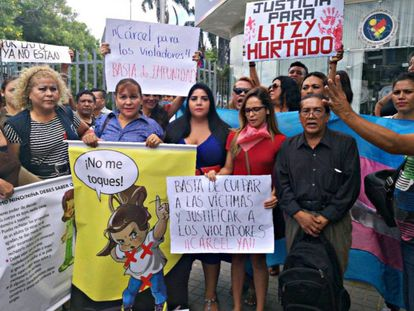 Protesto em Santa Cruz.