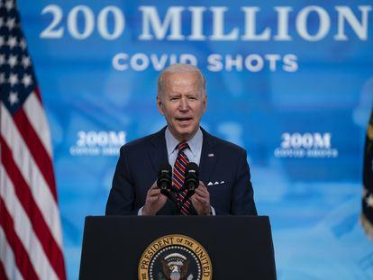 O presidente Joe Biden, em 21 de abril, na Casa Branca.