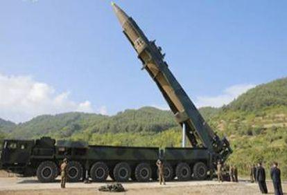 Imagem do míssil balístico que teria alcance intercontinental.
