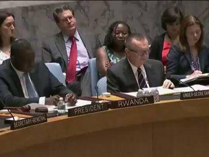 A ONU os EUA pedem um cessar-fogo imediato em Gaza.