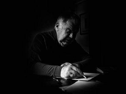 Jaime Lerner, em seu estúdio em Curitiba, em 2016.