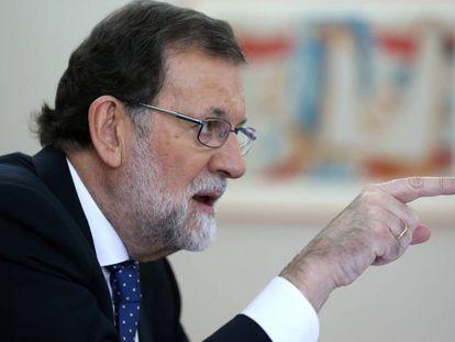 Rajoy, durante a entrevista.