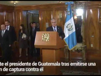 Presidente da Guatemala renuncia após escândalo de corrupção