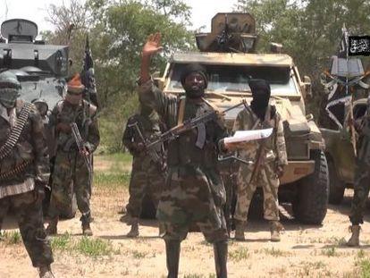 Captura de um vídeo da seita islâmica radical Boko Haram gravado em julho passado