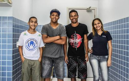 Estudantes brasileiros.
