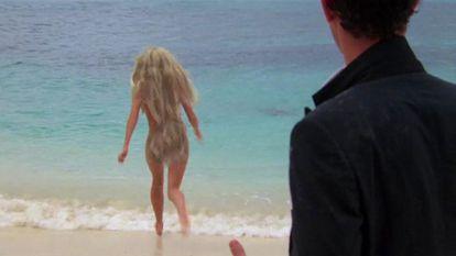 Versão retocada do corpo de Daryl Hannah em 'Splash – Uma Sereia em Minha Vida', disponível na Disney+.