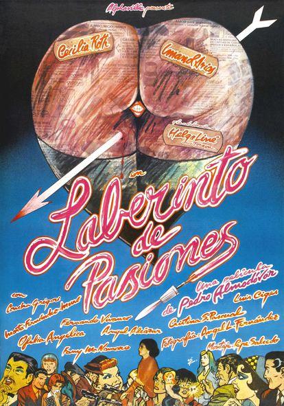 Cartaz de 'Labirinto de paixões', criado por Iván Zulueta em 1982.