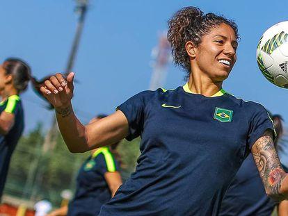 Cristiane, maior artilheira da história dos Jogos Olímpicos.