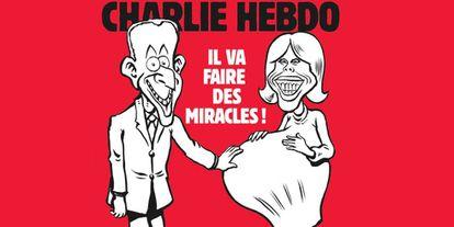 Capa do semanário francês 'Charlie Hebdo'