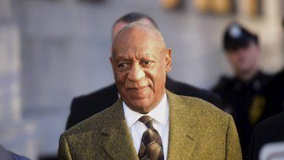 Bill Cosby em um julgamento por abuso sexual em fevereiro deste ano.