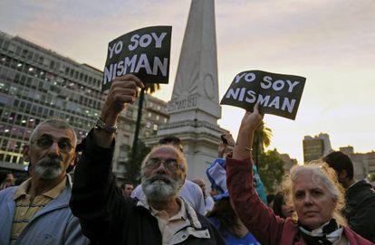 Protesto em Buenos Aires pelo 'caso Nisman'.
