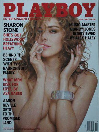 Nesta capa da edição de julho de 1990 da 'Playboy', Sharon Stone decidiu se vender como uma 'sex symbol'.