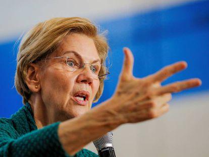 A pré-candidata Elizabeth Warren.