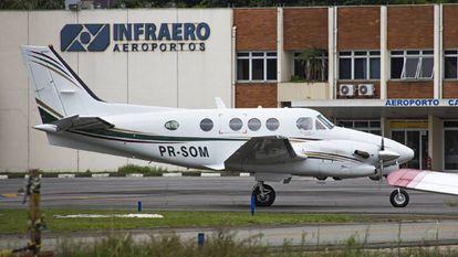 Imagem da aeronave na qual viajava o ministro Teori.