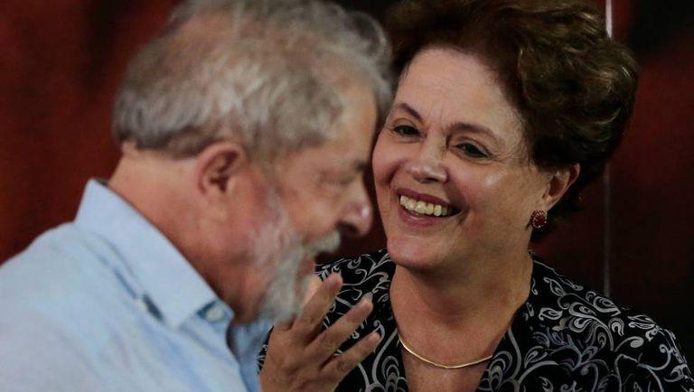 Os ex-presidentes Lula e Dilma Rousseff na semana passada em São Paulo.