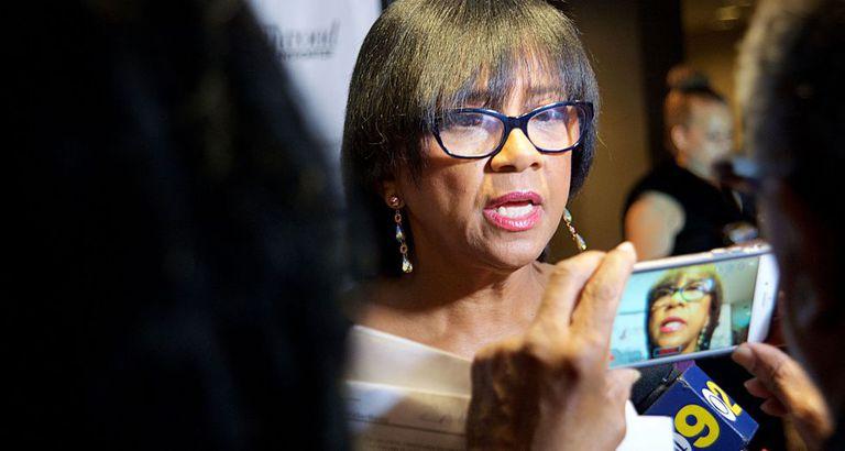 A presidenta da Academia de Cinema, Cheryl Boone Isaacs, na segunda-feira em Los Angeles.