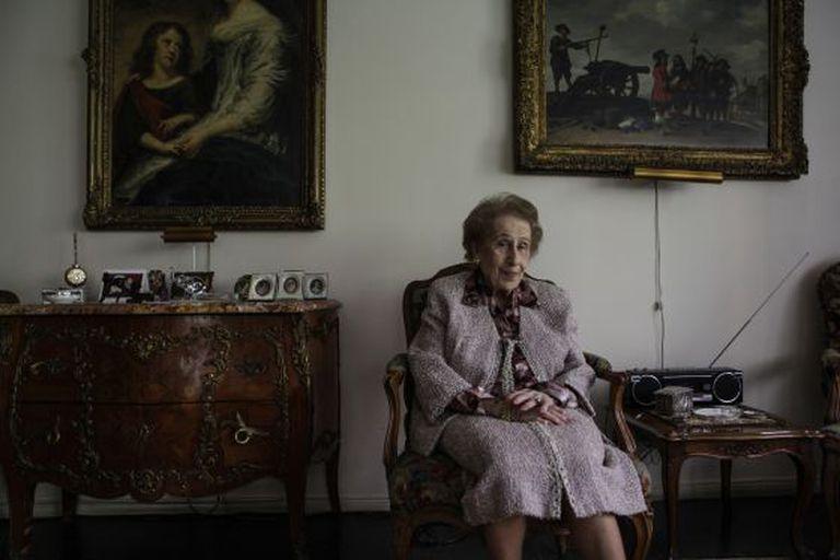 Irene Bergman, em seu apartamento em NY.