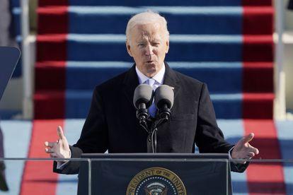 Joe Biden depois de tomar posse como presidente dos Estados Unidos, nesta quarta-feira, em Washington.