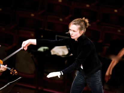 A diretora de orquestra lituana Mirga Grazinyte-Tyla.