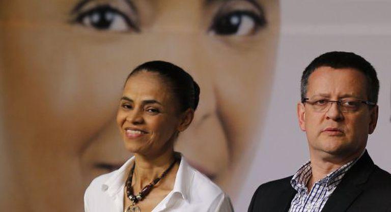 Marina Silva e o vice Beto Albuquerque no lançamento do programa.