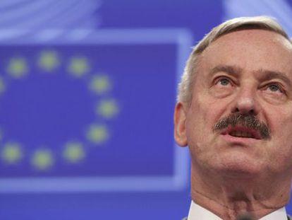 O comissário europeu interino de Economia, Siim Kallas.