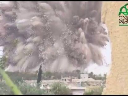 Imágenes da explosão em Alepol