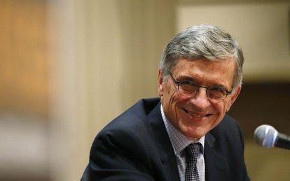 O presidente da FCC, Thomas Wheeler, durante um depoimento recente.