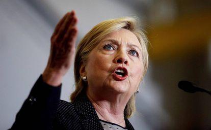 A candidata democrata Hillary Clinton.