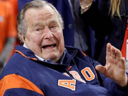 George H. W. Bush no último dia 29, num jogo de beisebol